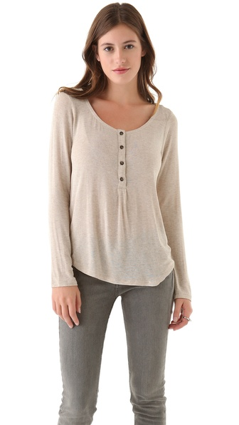 Splendid Drapey Lux Henley Tee