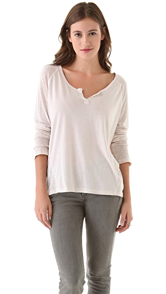 Splendid Very Light Jersey Henley Tee
