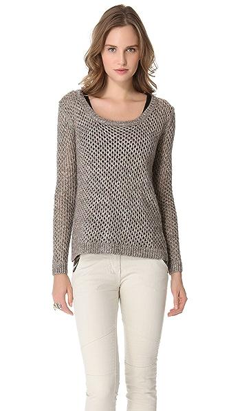 Splendid Twisted Metallic Sweater