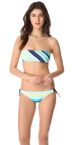 Shop Splendid Circus Stripe Bandeau Bikini Top and Splendid online - Apparel,Womens,Swimwear,Tops, online Store