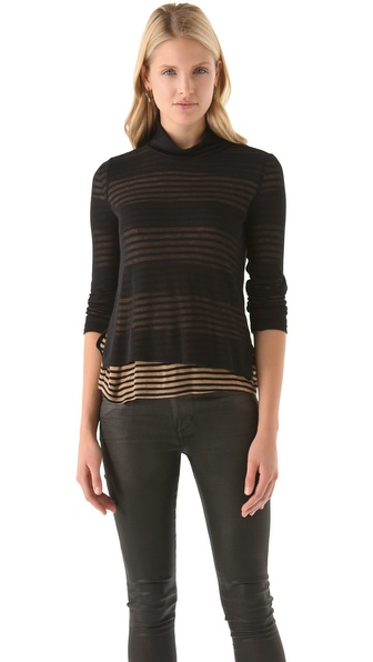 Splendid Chelsea Shadow Stripe Turtleneck