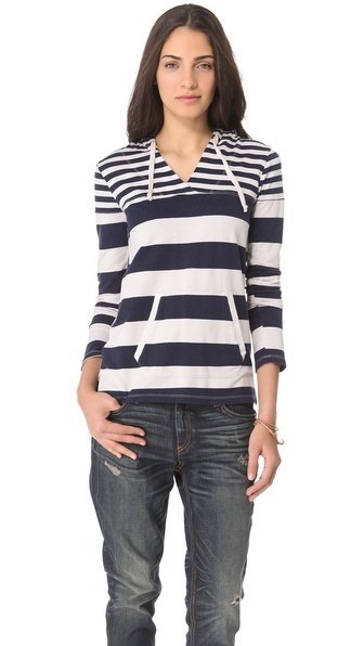 Splendid Crossneck Stripe Hoodie