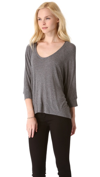 Splendid Draped Luxe Dolman Top
