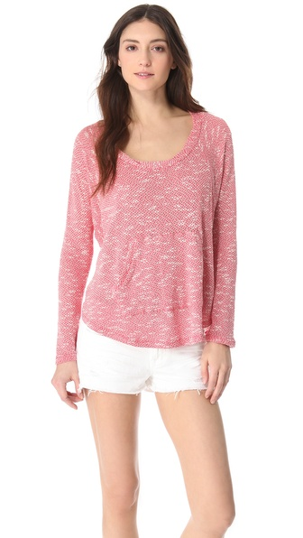 Splendid Key West Loose Knit Pocket Pullover