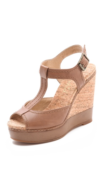 Splendid Kane T-Strap Wedge Sandals