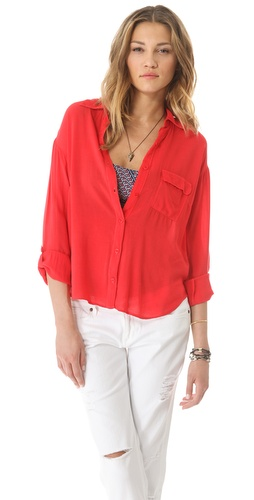 Shop Splendid Button Down Shirt - Splendid online - Apparel,Womens,Tops,Buttondown, at Lilychic Australian Clothes Online Store