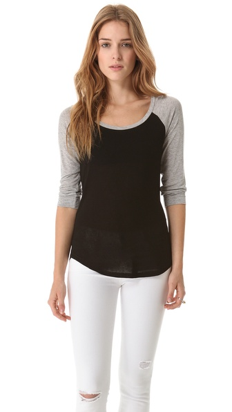 Splendid Drapey Lux Baseball Tee