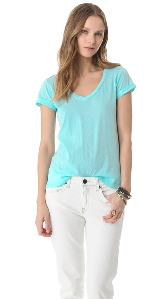 Splendid Vintage Whisper V Neck Tee