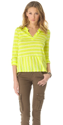Shop Splendid Double French Stripe Henley and Splendid online - Apparel,Womens,Tops,Tee, online Store