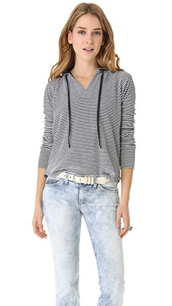 Splendid Madeleine Stripe Hooded Sweater