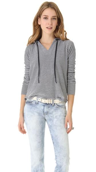 Splendid Madeleine Stripe Hooded Sweater