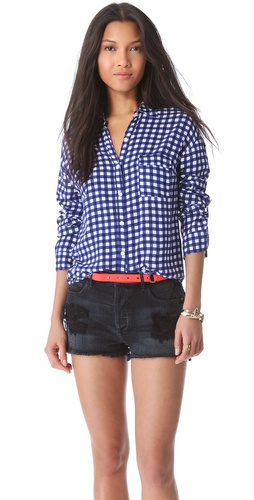 Kupi Splendid Gingham Button Down Blouse i Splendid haljine online u Apparel, Womens, Tops, Buttondown,  prodavnici online
