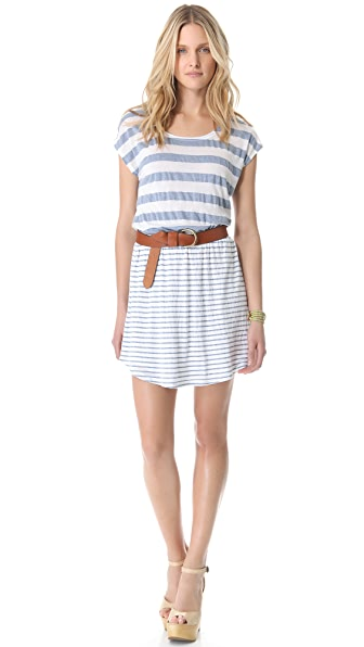 Splendid Marseille Chambray Stripe Dress