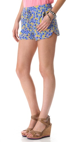 Splendid Watercolor Floral Shorts