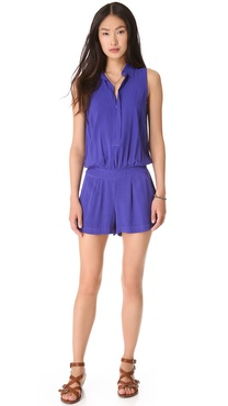 Splendid Collared Romper