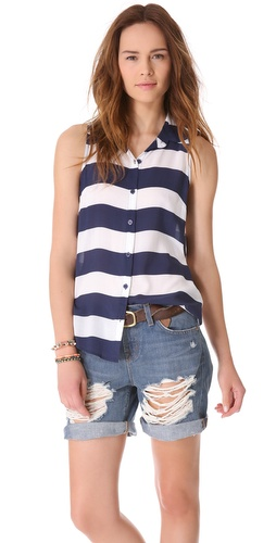 Splendid Magnolia Stripe Top