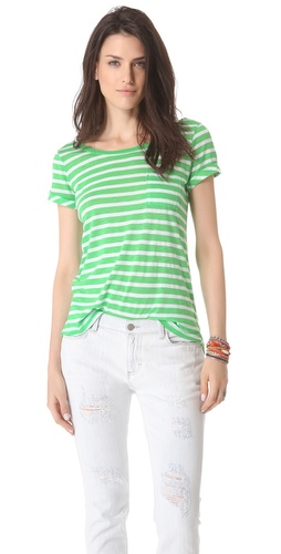 Kupi Splendid Scoop Back Stripe Tee i Splendid haljine online u Apparel, Womens, Tops, Tee,  prodavnici online