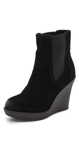 Splendid Culver Suede Wedge Booties at Shopbop / East Dane