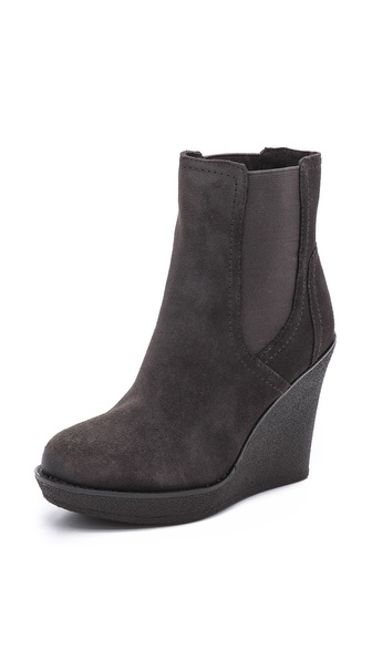 Splendid Culver Suede Wedge Booties