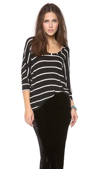 Splendid Brooklyn Stripe Drapey Lux Tee