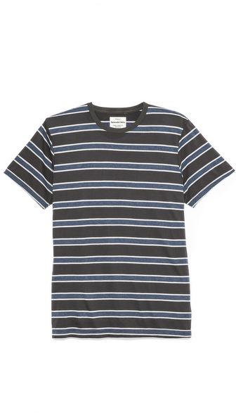 Splendid Short Sleeve Striped Crew T-Shirt