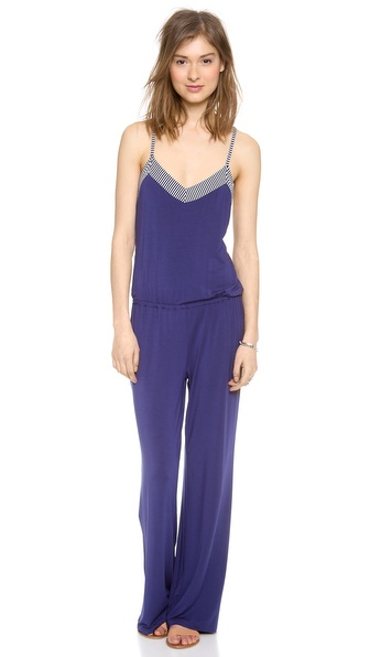 Splendid California Dreamin' V Back Jumpsuit