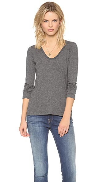 Splendid Light Jersey U Neck Tee