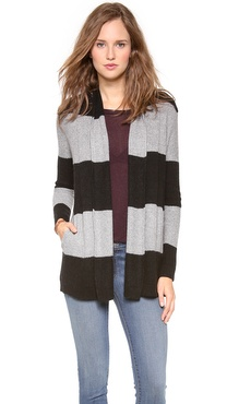 Splendid Honeycomb Rugby Cardigan