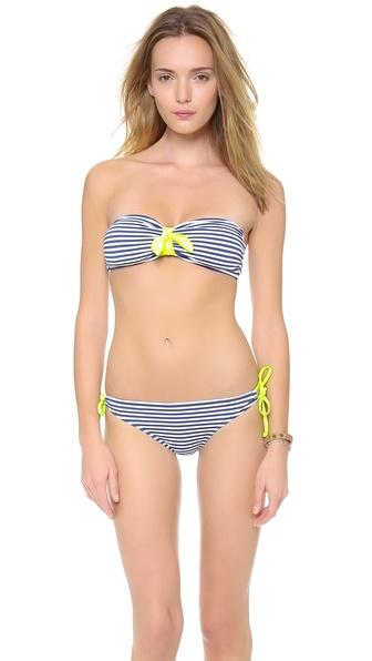 Splendid Malibu Stripe Bandeau Bikini Top