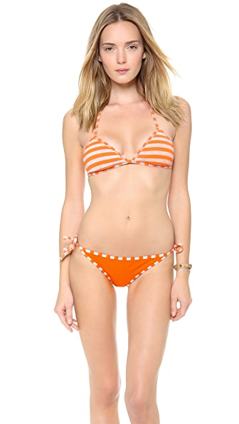 Splendid Miami Stripe Reversible Triangle Bikini Top
