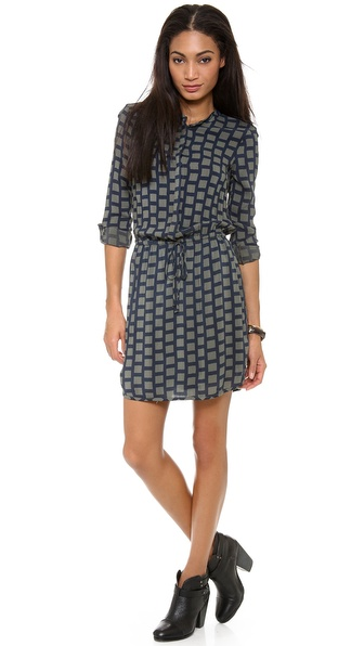 Splendid Window Pane Print Dress