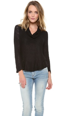 Splendid Las Palmas Loose Knit Cowl Neck Sweater