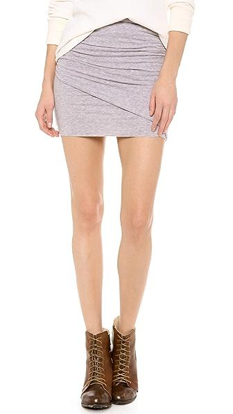 Splendid Ruched Miniskirt