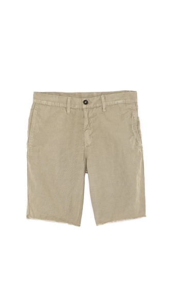 Splendid Woven Short with Raw Hem