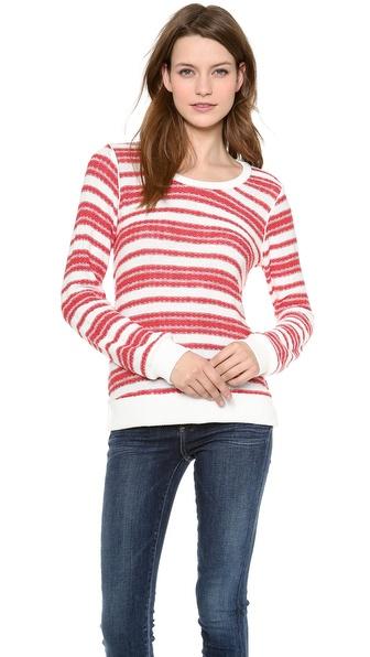 Splendid Palisades Stripe Loose Knit Pullover