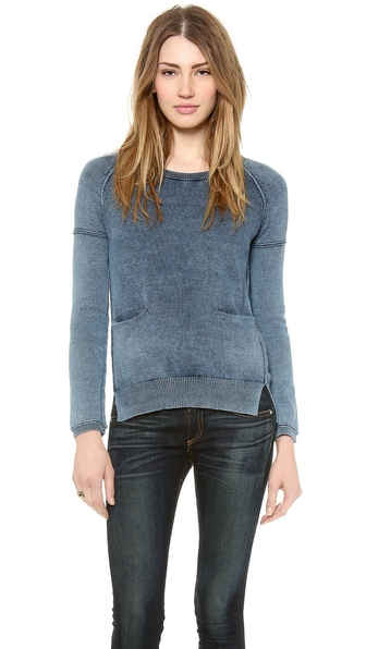 Splendid Indigo Dye Sweater
