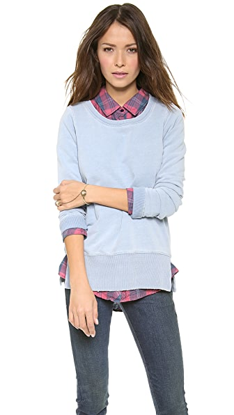 Splendid Indigo Dye French Terry Pullover
