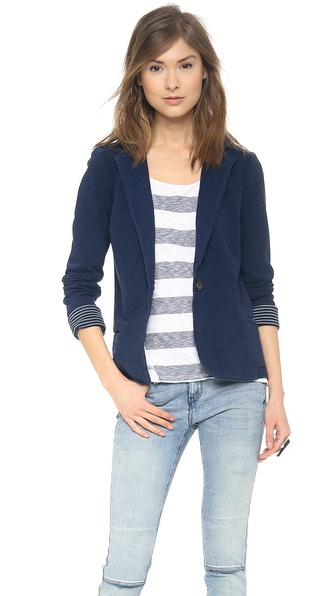 Splendid Indigo Dye French Terry Blazer