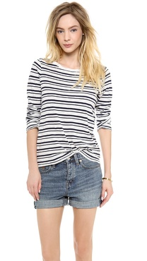 Splendid Vintage Coastal Stripe Tee with Long Sleeves