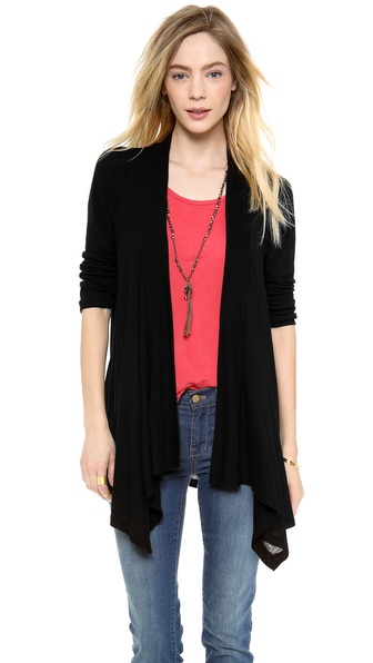Splendid Feather Rib Cardigan