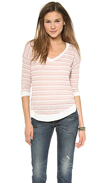 Splendid Laguna Stripe Loose Knit Dolman