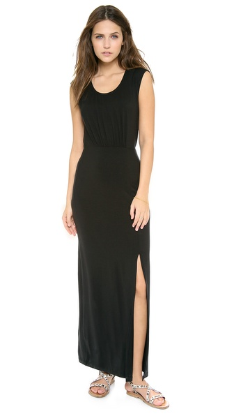 Splendid Cap Sleeve Maxi Dress with Slit