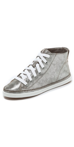 Kupi Splendid cipele online i raspordaja za kupiti Splendid gives vintage-inspired high-top sneakers a glam update, constructing these in crackled metallic leather. Textured sidewall and rubber sole.  Leather: Cowhide. Imported, China. This item cannot be gift-boxed. - Silver