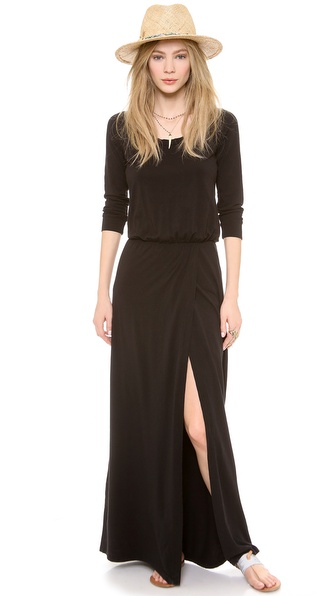Splendid High Slit Maxi Dress