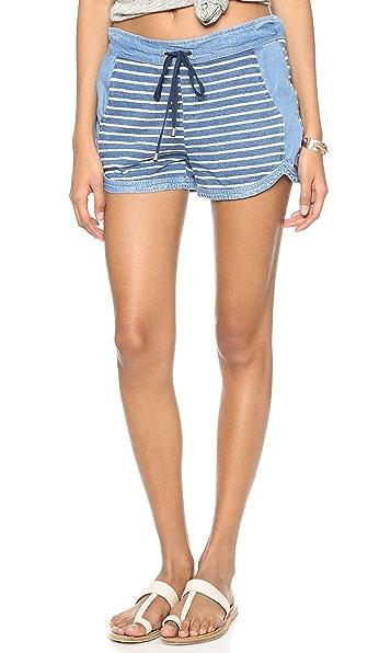 Splendid Indigo Dye Shorts