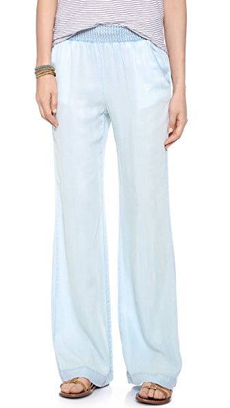 Splendid Chambray Wide Leg Pants