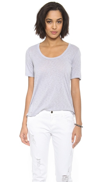 Splendid Slub Scoop Neck Tee
