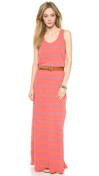 Splendid Pipeline Stripe Maxi Dress