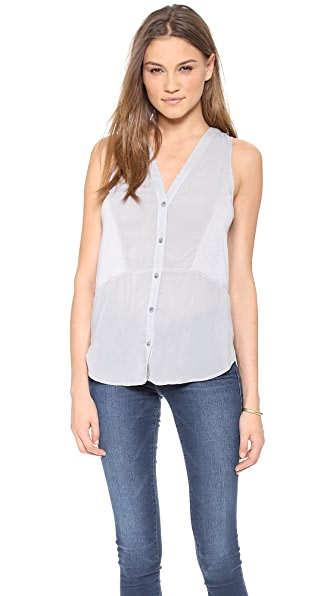 Splendid Shirting Sleeveless Blouse