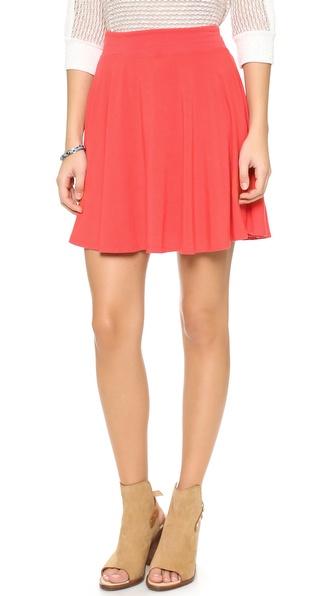 Splendid Flared Miniskirt